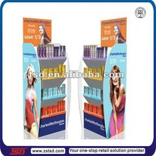 TSD-W523 Custom retail store hair color display racks,wood display stand for shampoo,hair product display stands