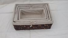 handmade paglia cestino del pane con la fodera tessuto cestino del pane