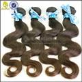 Ninguì n vertimiento 6A grado 100% brasileña del pelo humano sin procesar marrón onda del cuerpo del trenzado del pelo humano