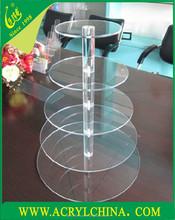 acrylic cake holder , acrylic cake display shelf , Round Acrylic Wedding Cake Holder With Butterfly Stand