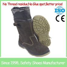 SF6860-1 steel toe cow suede leather safety boot