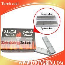 Torch coal of silver shisha charcoal