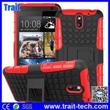 2in1 Tire grain Combo Hybrid kickstand Silicone Plastic Hard Phone Case Cover for HTC Desire 610