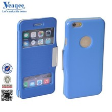Veaqee colorful design leather case cover for iphone 6 plus