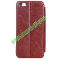 Crazy Horse Texture PU Leather Case for iPhone 5S/5 with Card Slots and stand