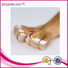 AAAAA grade Tape In Hair Extensions Remy Russian Tape Hair Extensions 6A Grade Black Brown Blonde Red Pink Grey Availalbe
