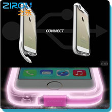 Creative Fashion Hot USB Charge Cable PC Case for Iphone 4 4S5 5S, LED Flash Light UP PC Cover Case Skin For Iphone 4 4S 5 5S