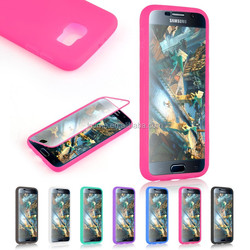 Flip TPU Silicone Touch Full Screen Case Cover For Samsung Galaxy S6