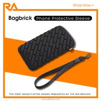 "Bagbrick, 2015 hot sale universal mobile phone neoprene sleeve 5.5"", chocolate bar style"