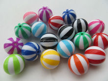 Custom Color Accept Wholesales 2014 new 12mm to 20mm Acrylic Watermelon Beads for Chunky Necklace Jewelry