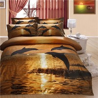 The world luxury brands 100% cotton 3d bedding set made in china