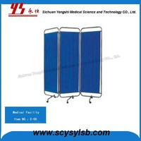 Hot Sale Stainless Medical Hospital Room Foldable Divider Screen Curtain on Sale