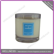 most popular cheap galss natural soy candle