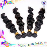 100% indian/chinese/brazilian virgin human hair with cuticle hair extensions supplies