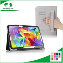Mobile Accessories Wholesale black hand starp Tablet pc leather case for Samsung