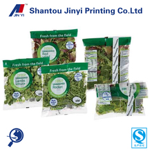 China manufacturer plastic packaging pouch for vagetable