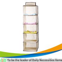Home use foldable storage box organizer hanging storage closet