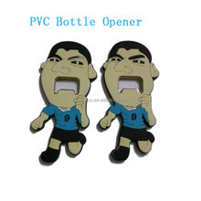 Football world cup soft PVC rubber bottle openers