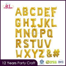 """16 """"Hoja <span class=keywords><strong>de</strong></span> Oro Mylar <span class=keywords><strong>Globos</strong></span> Carta"""
