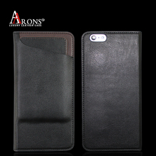 Black phone case with outside credit card slots cell phone holder for iphone 6