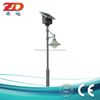2-6m Customized Q235 steel led garden lights solar with high quality and low price