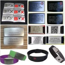 2015 alibaba hot sale unisex customized adjustable silicone wristband