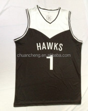 100% polyester inter lock double face latest basketball jersey design