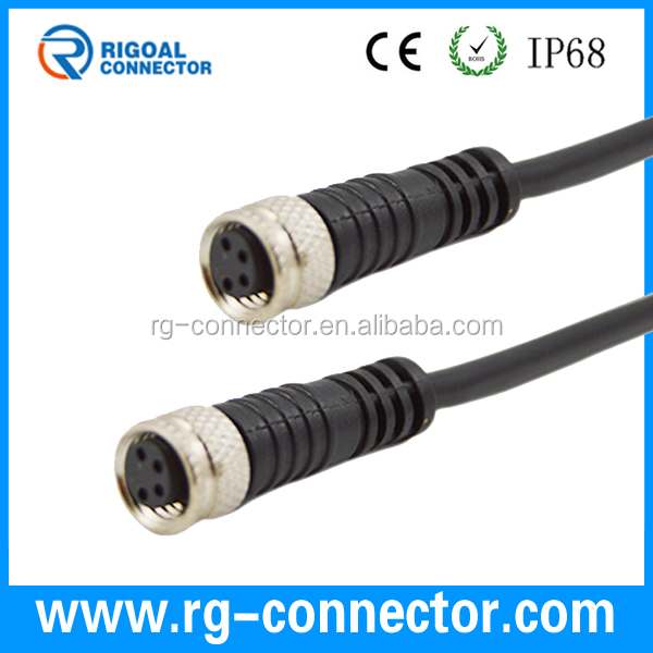 M8 Sensor Cable : Ip waterproof sensor pin molded connector m cable