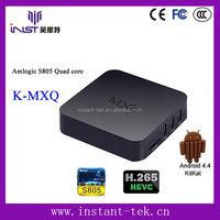 Android 4.4 Amlogic S805 quad core mxq wholesale android smart tv set top box