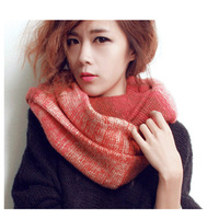 Popular 1pc/lot 5colors choice new design hot sale Gradient color knitting women acrylic muffler scarf