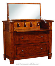 Folding dressing mirror with drawers wood bedroom dressers