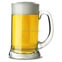 China Manufacture Supply glass mug half pint glass beer tankard wholesale clear glass mug with handle
