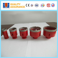 High efficiency wet core drill brazed diamond core bits for marble granite and glass