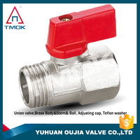 brass miniature ball valves 600 wog plating male threaded connection hydraulic motorize manual power CE approved full port nick