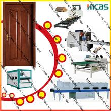 La máquina puerta de madera línea de producción