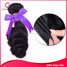 High Quality Pure Indian Virgin loose wave Hair Weave , No Split Ends