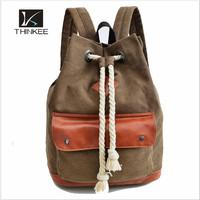 Men's backpack male korean canvas backpack bag bucket travel backpack bag