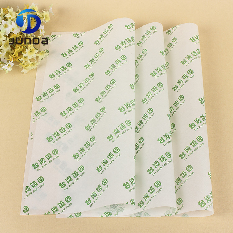 Elegant Color Laminated Clothing Food Basket Bbq Wax Tissue Wrapping Paper For Wrap