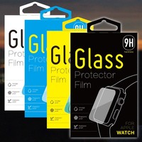 Premium tempered glass film screen protector for Apple Watch with retail box packing KJ-398