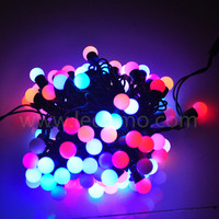 2016 new outdoor halloween decorative led flashing bouncing ball with multi-color light