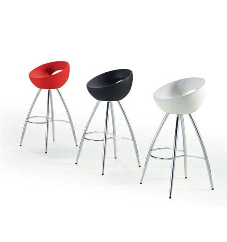 new design adjustable chrome legs pu seats swivel bar stool