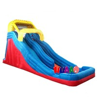 Top selling inflatable water slide toy for pool dual channel slide