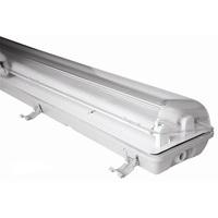 IP65 Waterproof Fixture Lighting 2x36W Fluorescent Light Fittings / 2*18W LED Lighting Fixtures