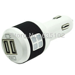 Dual USB Port Car Charger with Charge Indicator for iPhone/iPod/iPad/Samsung/Nokia/HTC/Other Mobile Phones, CC26-IPA