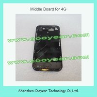 electroplated for iphone 4 middle frame black with sim tray and button sets paypal is accepted