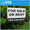 Best price corflute yard sign with H stake,coroplast signage,corrugated plastic signs