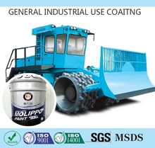 Anticorrosive clear coating for construction machines