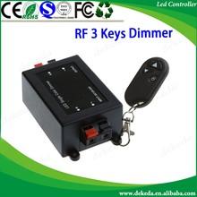 RF 3 keys RF Wireless led dimmer DC 12 volt led dimmer