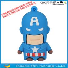 Cartoon USB Flash Memory 2.0 Captain America USB Flash Driver U Disk