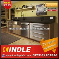 Kindle Custom 100% Exported of Precision Stainless Steel Kitchen Countertops Manufacturer With 31 Year Experience ISO9001:2008